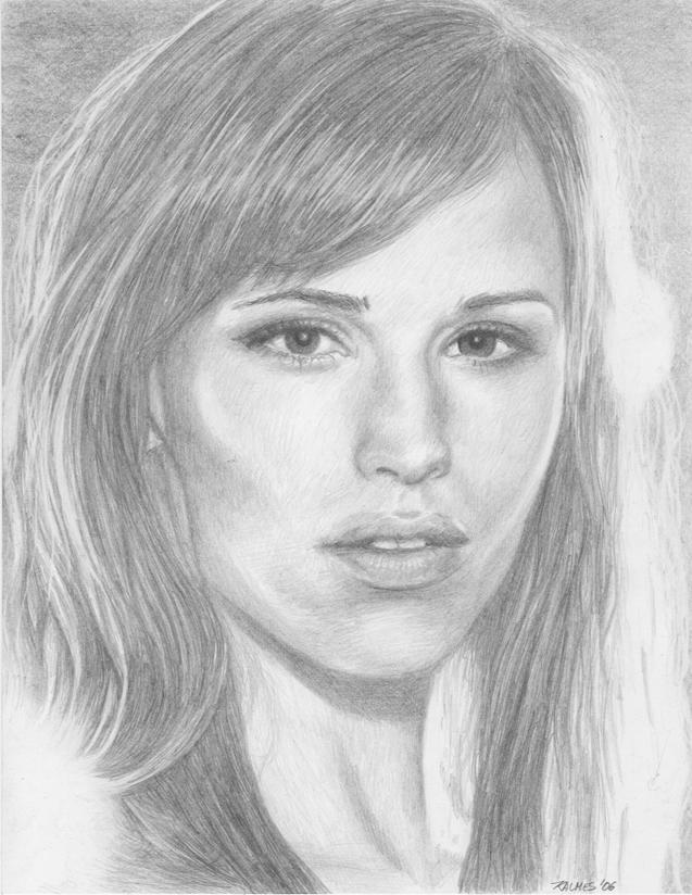 Jennifer Garner by Drawing-You-In on DeviantArt