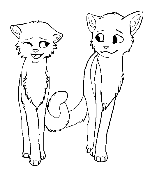 Line Drawing Couple : Cat couple lineart by aliice in neverland on deviantart