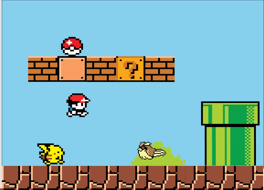 Mario plus Pokémon mash-up
