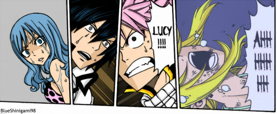 Fairy Tail chapter 291 coloring by BlueShinigami98