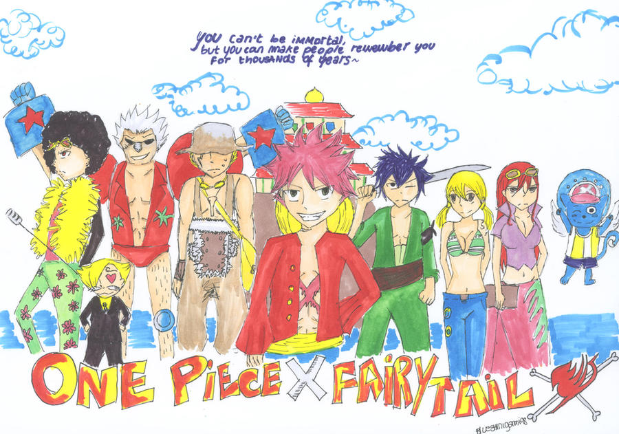 One Piece X Fairy Tail - crossover by BlueShinigami98