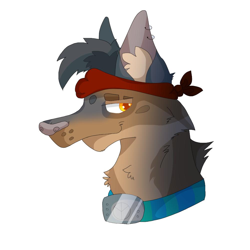 Dog Headshot by TheMashedCat