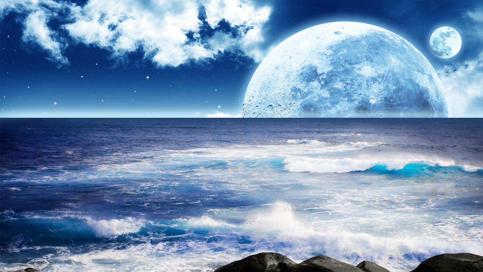 Wallpaper: blue world Full HD by kartine29