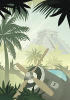 Mayan Plane Wreck by kartine29
