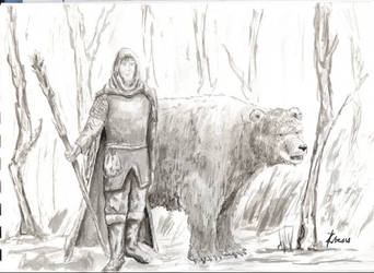 Druid and Bear by Tipi