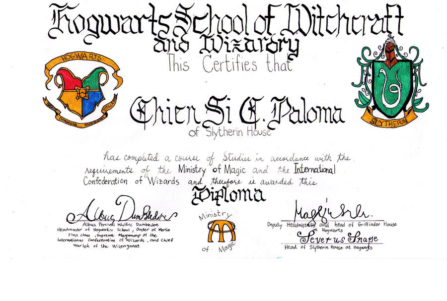 4 h certificate of achievement related keywords for Hogwarts certificate