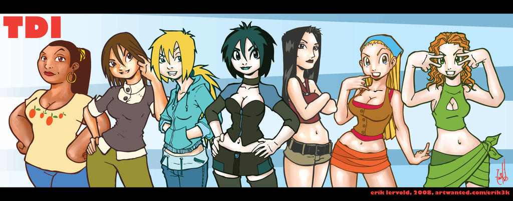 Total Drama Island Girls by lervold