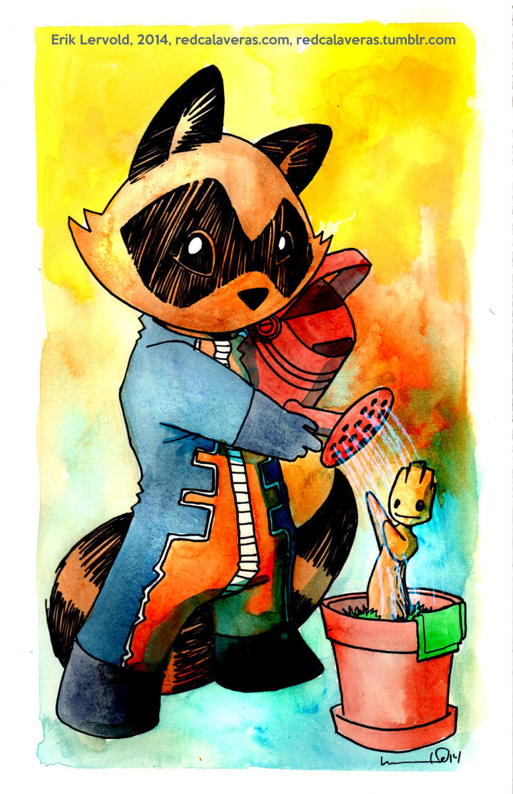 Rocket and Groot by lervold