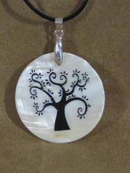 Sandblasted Tree Of Life Pendant