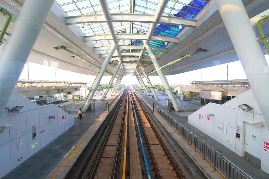 Kaohsiung City, Taiwan MRT World Transport Station by wuxjn