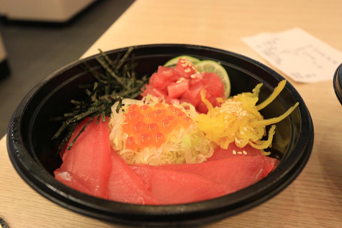 Japanese cuisine:5pcs Tuna Sliced Don by wuxjn