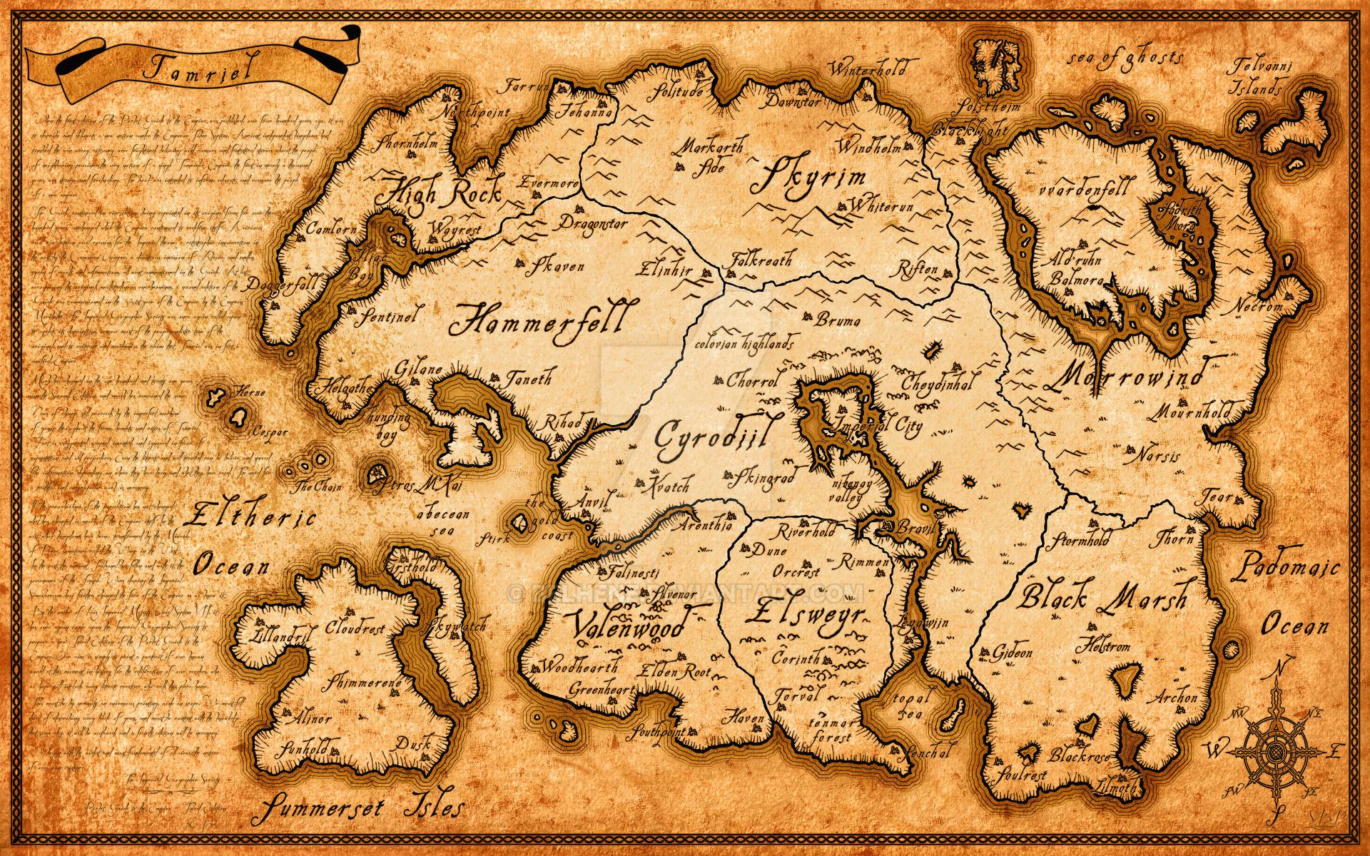 High Resolution Tamriel map (Elder Scrolls series)