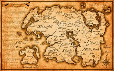 High Resolution Tamriel map (Elder Scrolls series) by Belhene