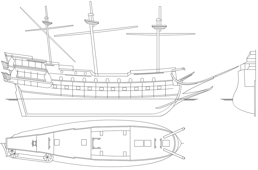 Real Pirate Ship Blueprints | www.imgkid.com - The Image Kid Has It!