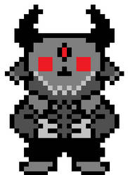 Grey Demon In The Style Of Undertale