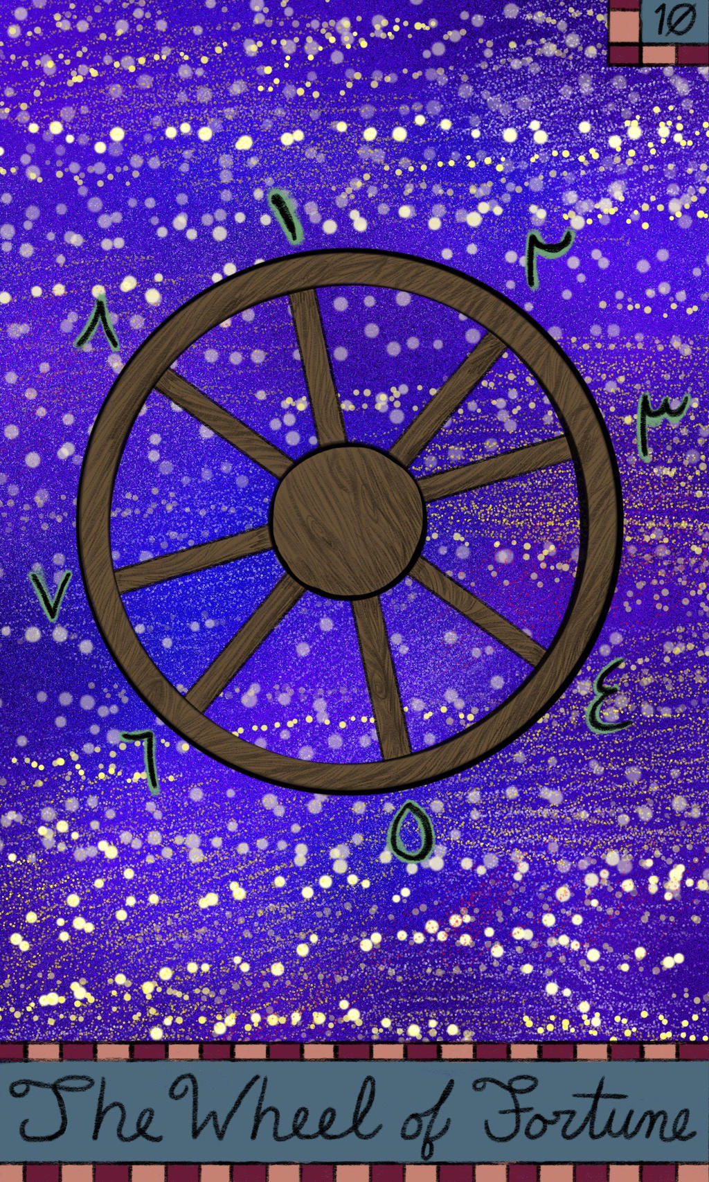 10 The Wheel of Fortune Tarot by Fevley
