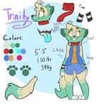 Updated Trin ref (fursona) (CURRENT)