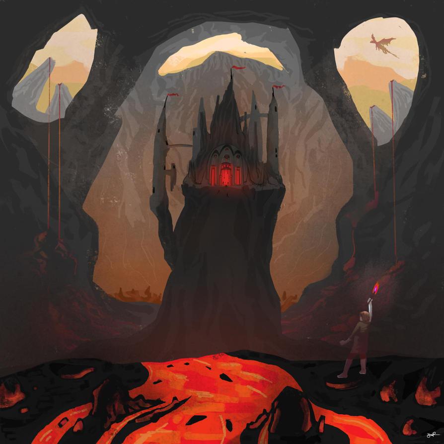 Volcano Castle - Procreate on iPad by Penb0y