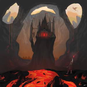 Volcano Castle - Procreate on iPad