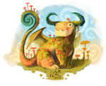 Little Square Dragon by Nalak-Bel