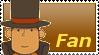 Professor Layton Fan Stamp by Firesonic152