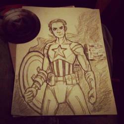 Cap America Pencils by Inuranma44