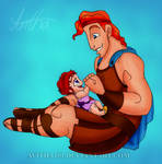 Hercules and Hebe - Daddy Daughter Time by avitha101