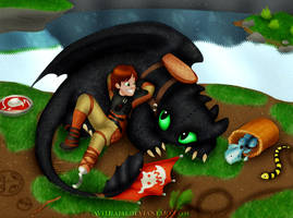 Hiccup and Toothless - Best Buds by avitha101