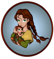 Hiccup and Valka - You Came Early to This World by avitha101