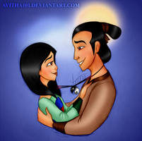 Sun and Rain - Mulan and Shang by avitha101