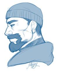 Gabe headshot sketch by Jellygay