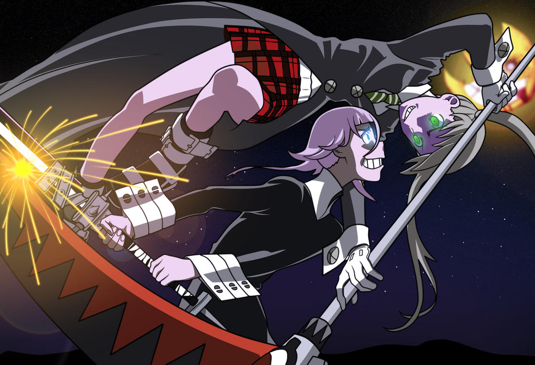 Maka vs. Crona -colored- by n8-81