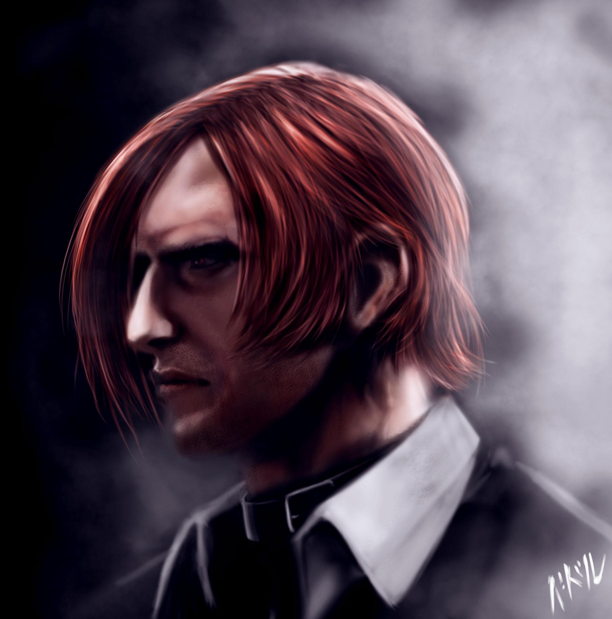 Iori Yagami Portrait by BaderBadruddin