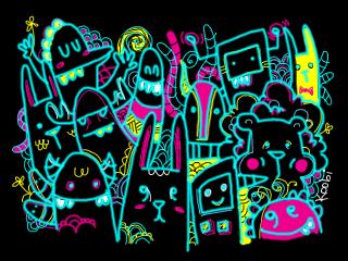 Doodle Phone Wallpaper by batongbato