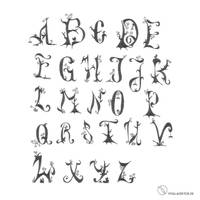 Wuchs Font Uppercase by Zombieroom