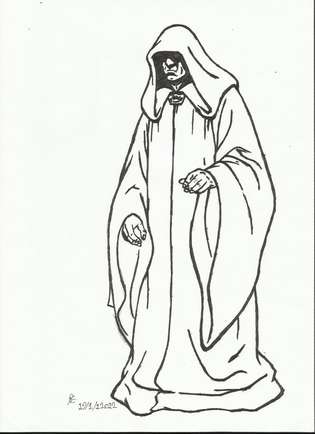 Star wars darth sidious drawings pictures to pin on for Count dooku coloring pages
