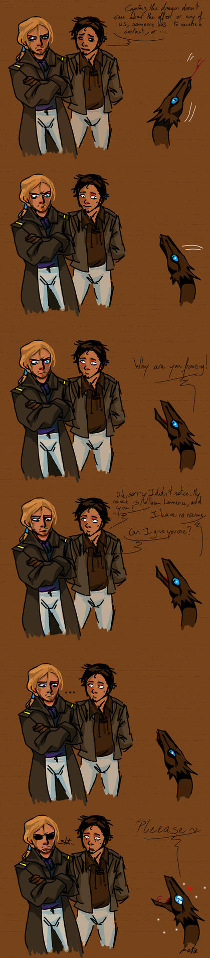 When Captain W.Laurence meet temeraire 3.0 by KuroKato
