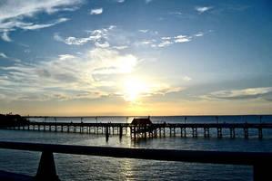 offa bridge sunset by stickitystickman