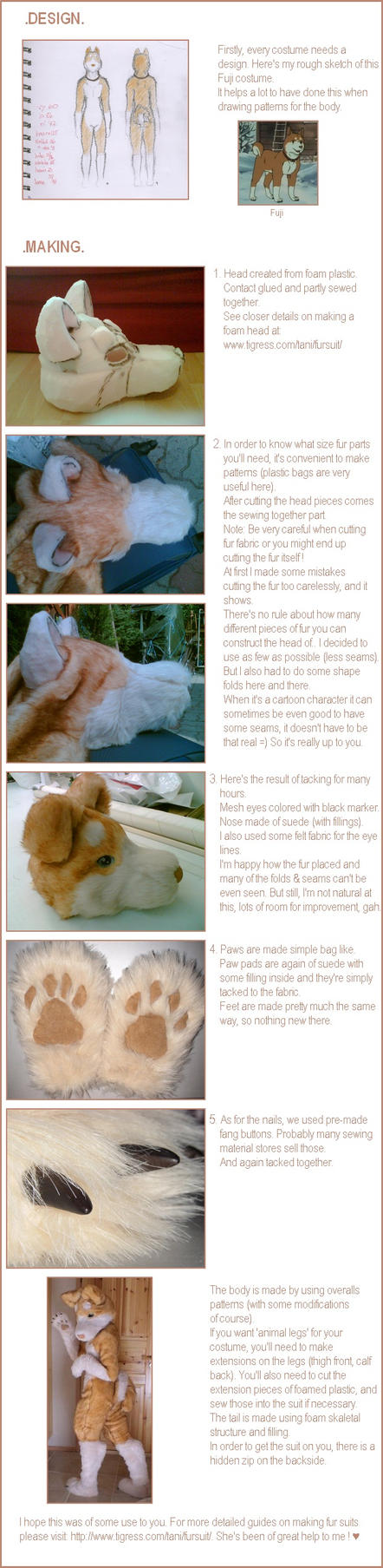 Tutorial to 'Fuji' fur suit by mooni