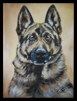 Dog painting 'Ouzo'