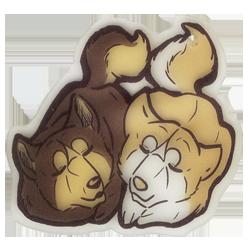 Riki and Fuji chibi keychain