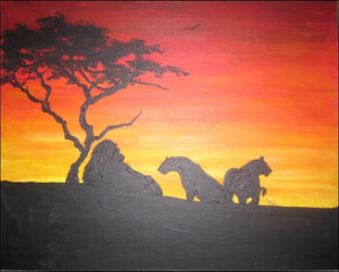 Lions silhouette by mooni