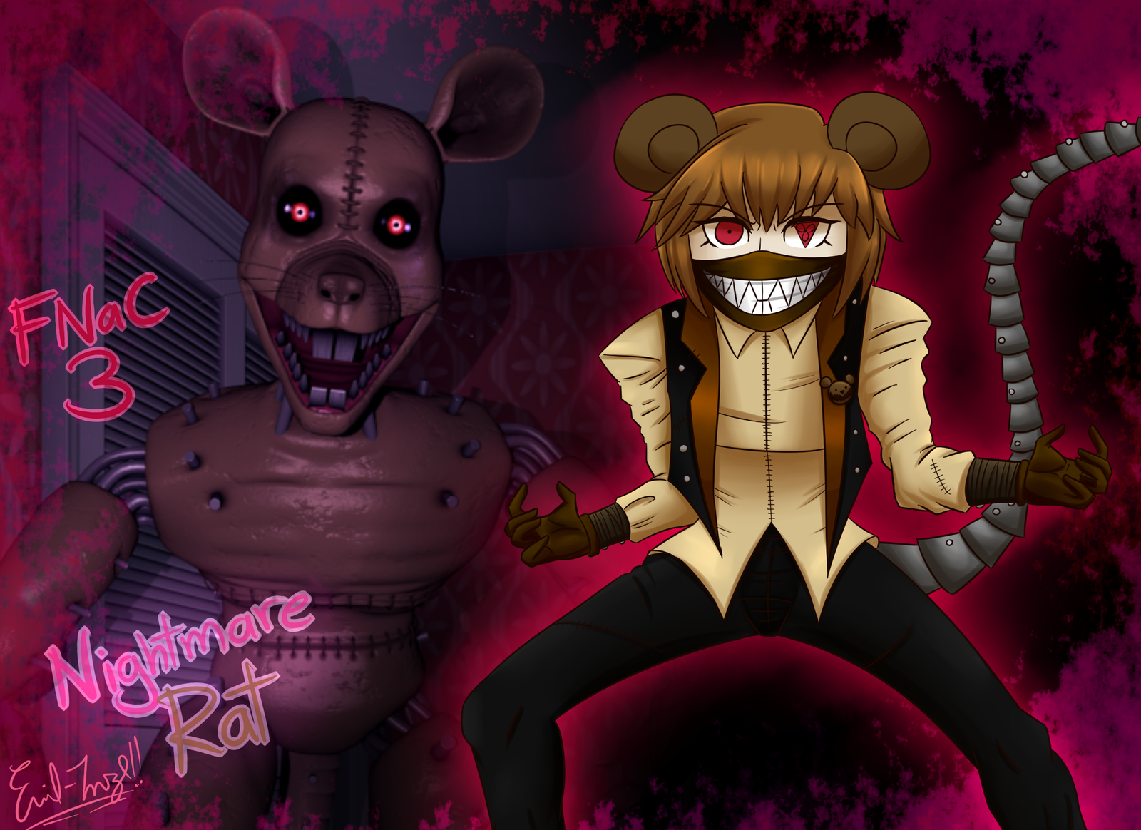 FNaC 3: Nightmare Rat by Emil-Inze on DeviantArt