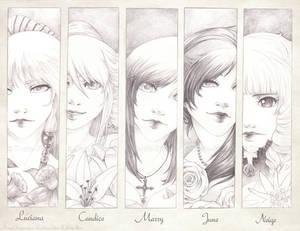 Pencil Portraits :Girls: