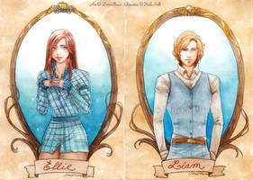 :COM: Ellie and Liam -Portraits- by Doria-Plume