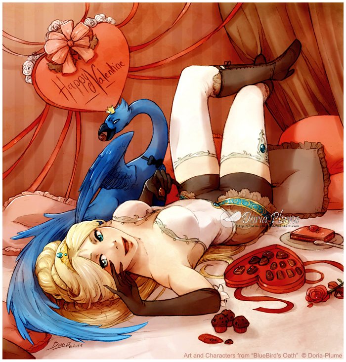 Valentine and Chocolate by Doria-Plume