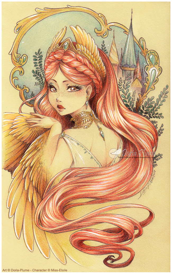 :Gift: Emyra -Tale of the Firebird- by Doria-Plume