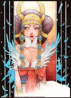 :Gift: Harfang : The Enchantress by Doria-Plume