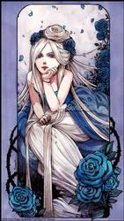 :Gift: La Dame aux Roses Bleues by Doria-Plume