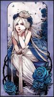 :Gift: La Dame aux Roses Bleues